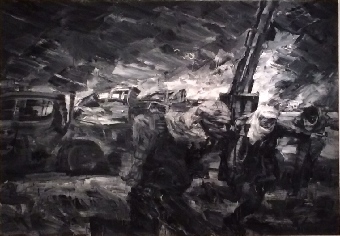 Untitled painting of war by Yan Pei-Ming