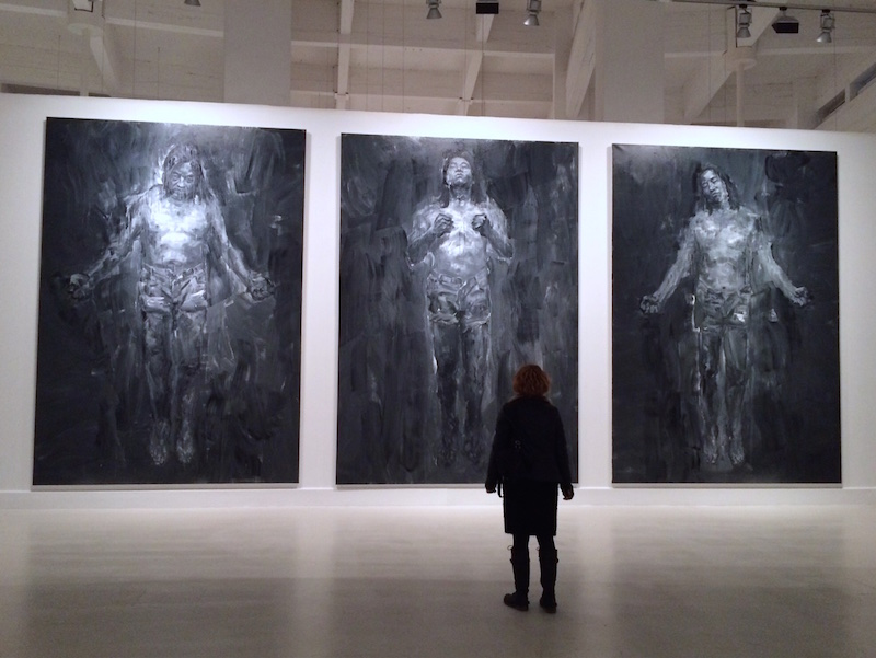 confronting Yan Pei-Ming's giant paintings