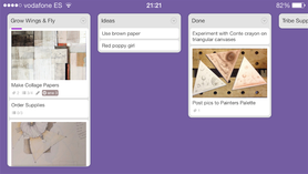 Screenshot Trello project boards